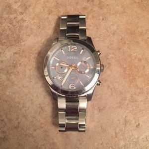 Fossil women's watch with iridescent face